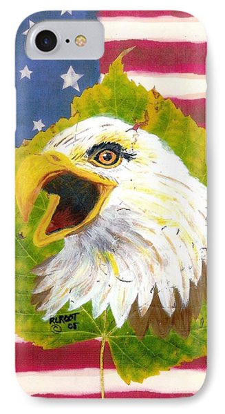 Screaming Eagle With U.s. Flag IPhone Case