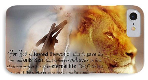 Scripture Art    Lamb Of God IPhone Case