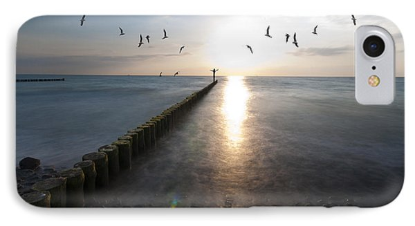 Sea Birds Sunset. IPhone Case