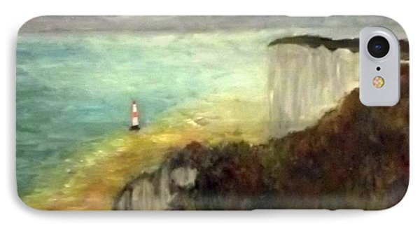 Sea, Cliffs, Beach And Lighthouse IPhone Case