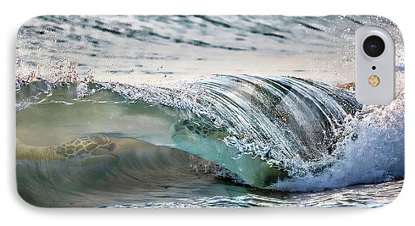 Sea Turtles In The Waves IPhone Case