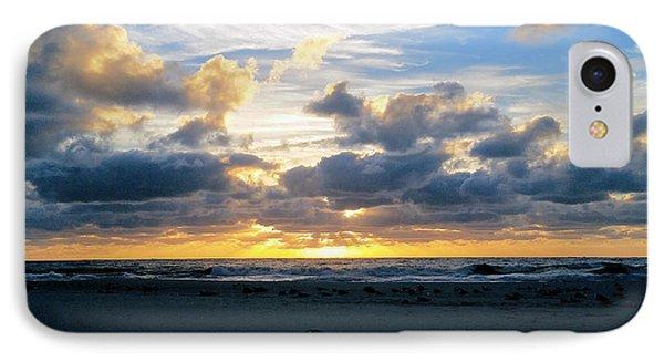 Seagulls On The Beach At Sunrise IPhone Case