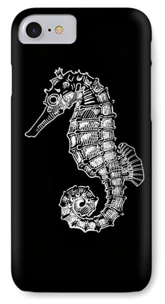 Seahorse On Black IPhone Case
