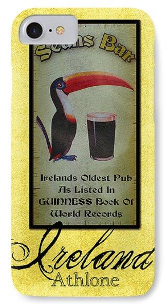 Seans Bar Guinness Pub Sign Athlone Ireland IPhone Case