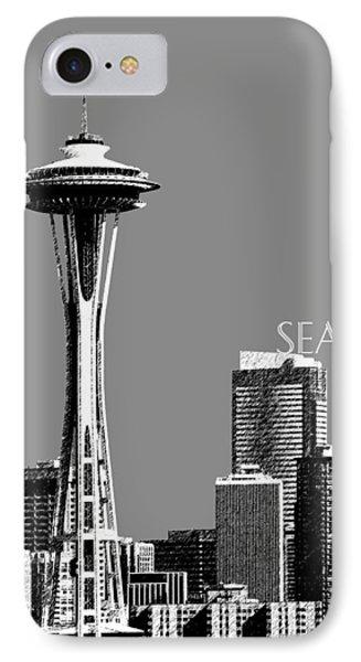 Seattle Skyline Space Needle - Pewter IPhone Case