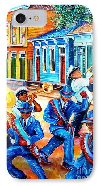 Trombone iPhone 8 Case - Second Line In Treme by Diane Millsap