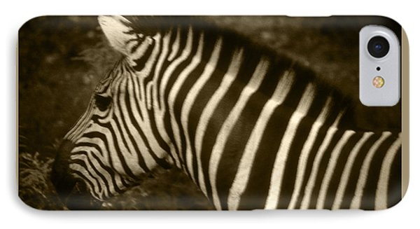 Sepia Zebra IPhone Case