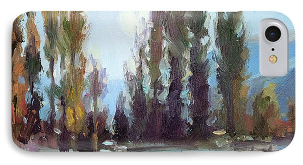 Impressionism iPhone 8 Case - September Moon by Steve Henderson