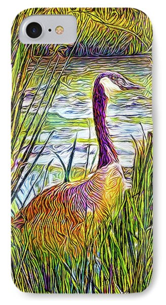 Serene Goose Dreams IPhone Case