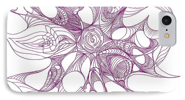 Serenity Swirled In Purple IPhone Case