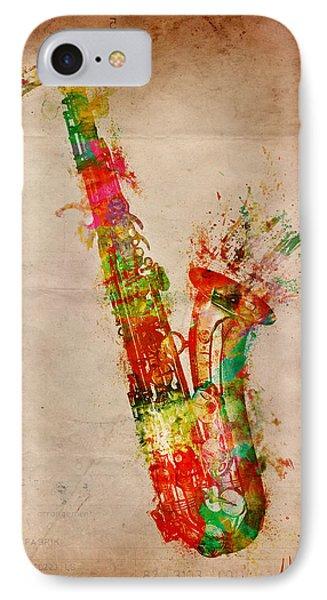 Saxophone iPhone 8 Case - Sexy Saxaphone by Nikki Smith