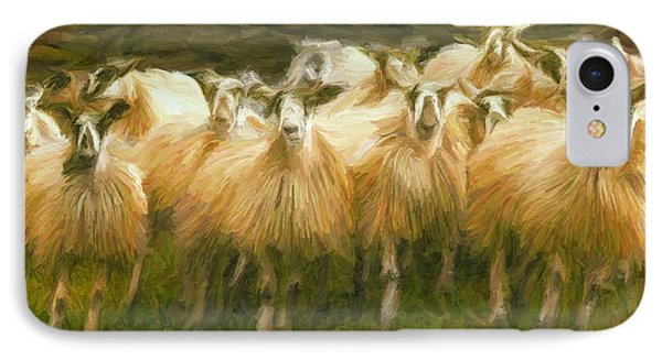 Sheep At Hadrian's Wall IPhone Case