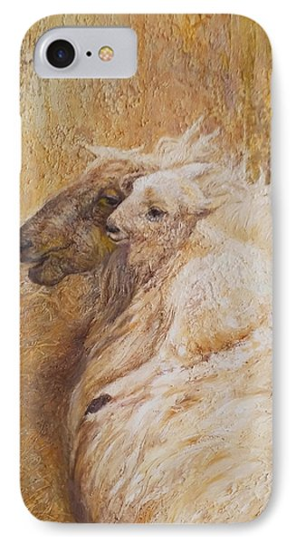 Sheep With A New Born Lamb IPhone Case