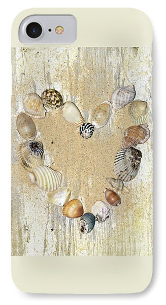IPhone Case featuring the photograph Shells Of The Heart By Kaye Menner by Kaye Menner