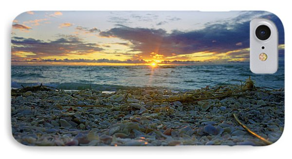Shells On The Beach At Sunset IPhone Case