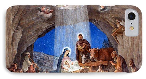 Shepherds Field Nativity Painting IPhone Case