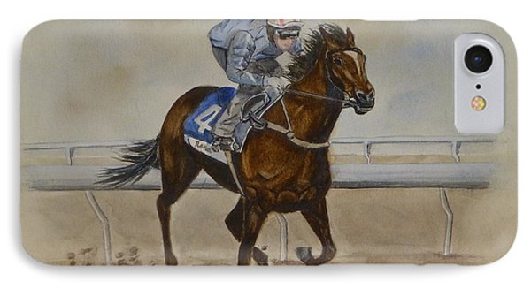 She's Taking The Lead ... Horserace IPhone Case