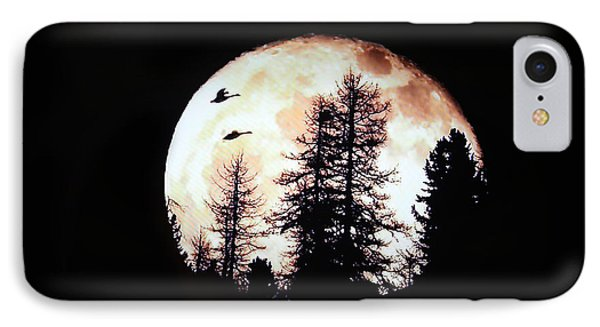 Silhouettes Om Full Moon IPhone Case