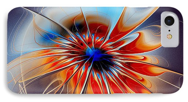 Shining Red Flower IPhone Case