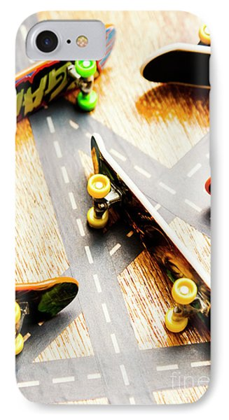 Truck iPhone 8 Case - Side Streets Of Skate by Jorgo Photography - Wall Art Gallery