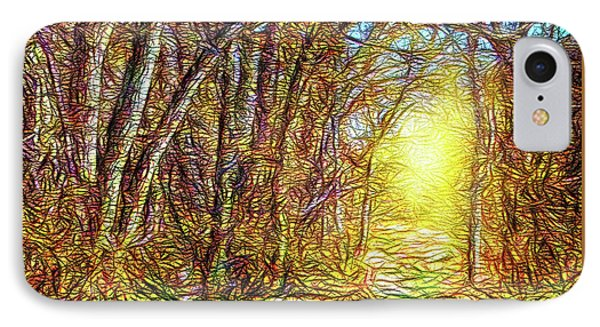 Silence Of A Forest Path IPhone Case
