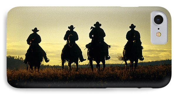 Silhouetted Cowboys IPhone Case