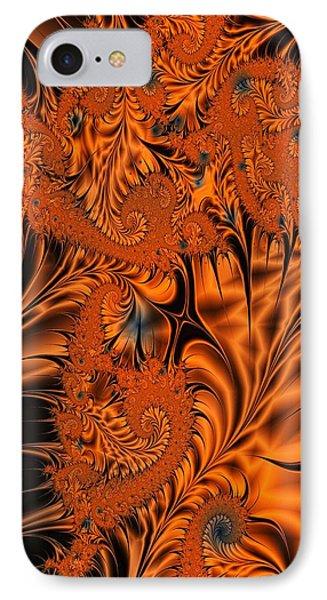 Silk In Orange IPhone Case