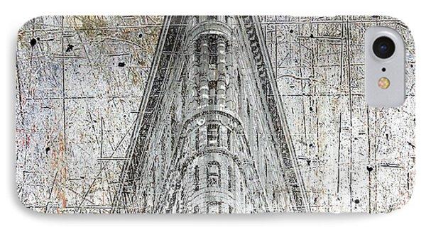 Silver Flatiron Building IPhone Case