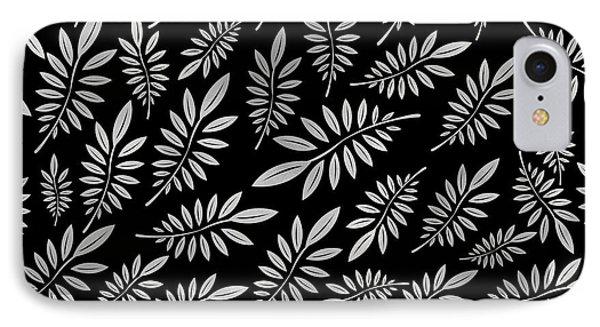 Silver Leaf Pattern 2 IPhone Case