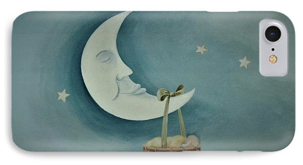 Silver Moon With Picnic Basket IPhone Case