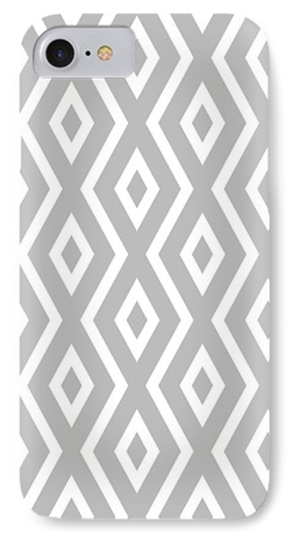 Beach iPhone 8 Case - Silver Pattern by Christina Rollo