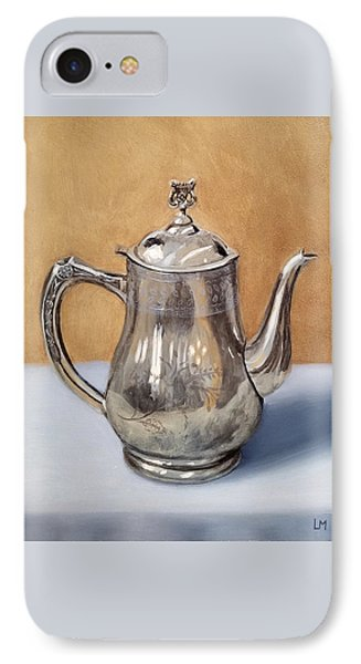 Silver Teapot IPhone Case