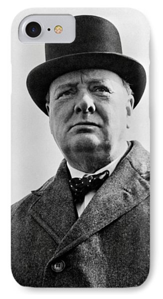 England iPhone 8 Case - Sir Winston Churchill by War Is Hell Store