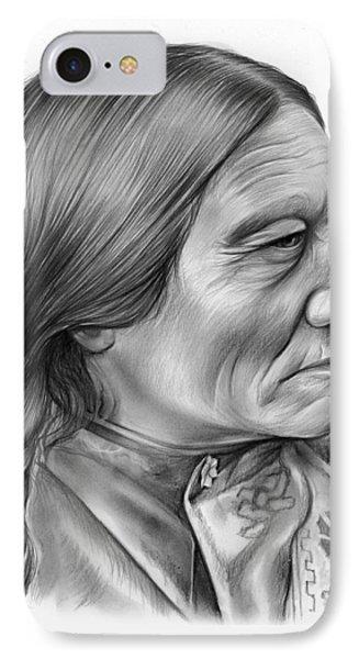 Bull iPhone 8 Case - Sitting Bull by Greg Joens