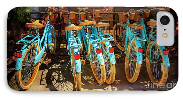 IPhone Case featuring the photograph Six Huffy Bicycles by Craig J Satterlee