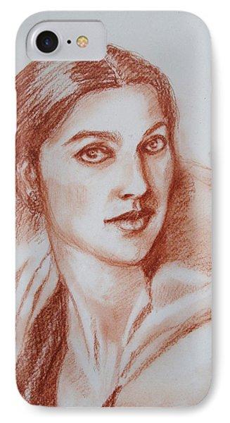 Sketch In Conte Crayon IPhone Case