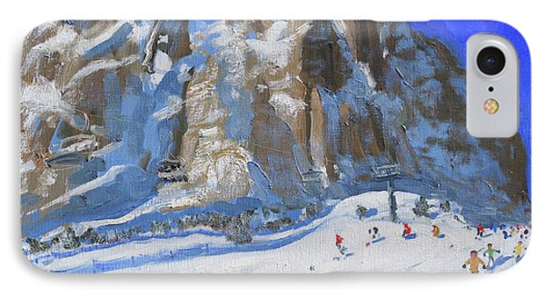 Skiing Down The Mountain,selva Gardena IPhone Case