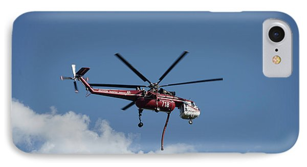 Skycrane Works The Red Canyon Fire IPhone Case