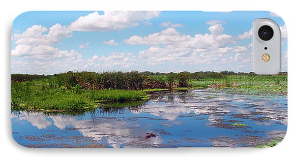Skyscape Reflections Blue Cypress Marsh Near Vero Beach Florida C5 IPhone Case