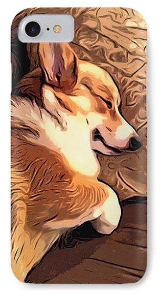 Banjo The Sleeping Welsh Corgi IPhone Case