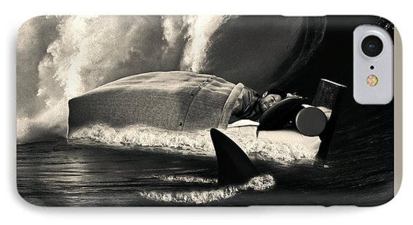 Sleeping With Sharks Black And White IPhone Case