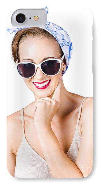 Smiling Pin-up Girl IPhone Case
