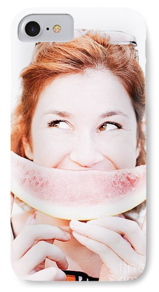 Smiling Summer Snack IPhone Case