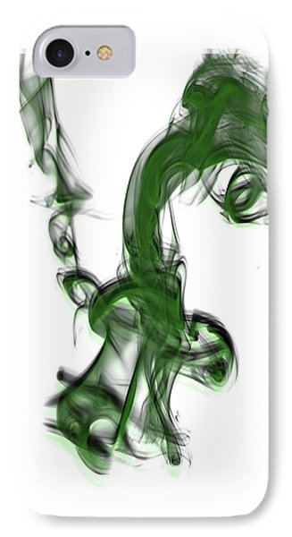 Smoke 01 - Green IPhone Case