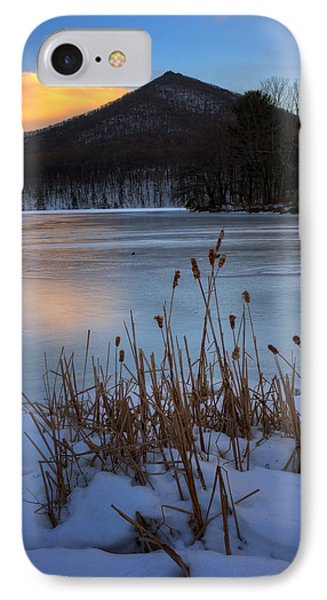 Snow At The Peaks IPhone Case