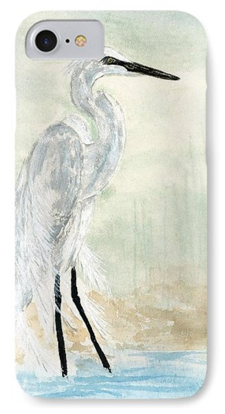 Snow Egret IPhone Case