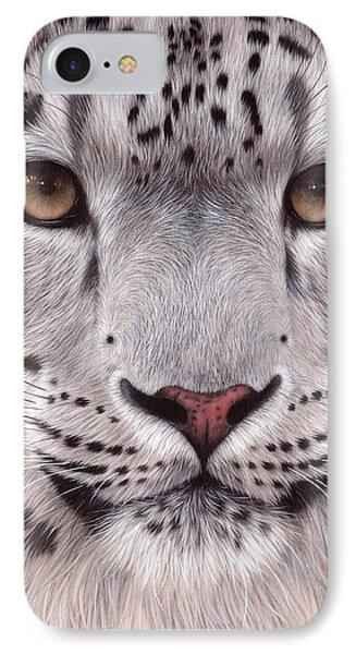 Snow Leopard Face IPhone Case