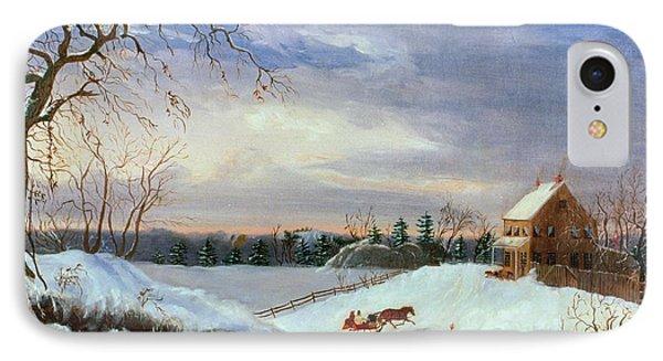 Snow Scene In New England IPhone Case