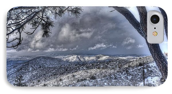 Snowfall Covers Northern Arizona For Christmas IPhone Case
