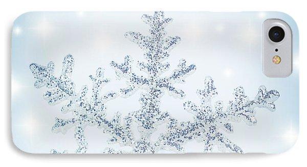 Snowflake Background IPhone Case